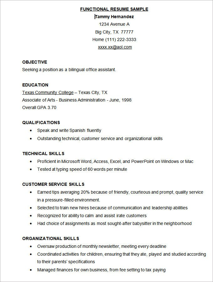 Free Download Resume Templates Simple Resume Template 46 Free Samples Examples