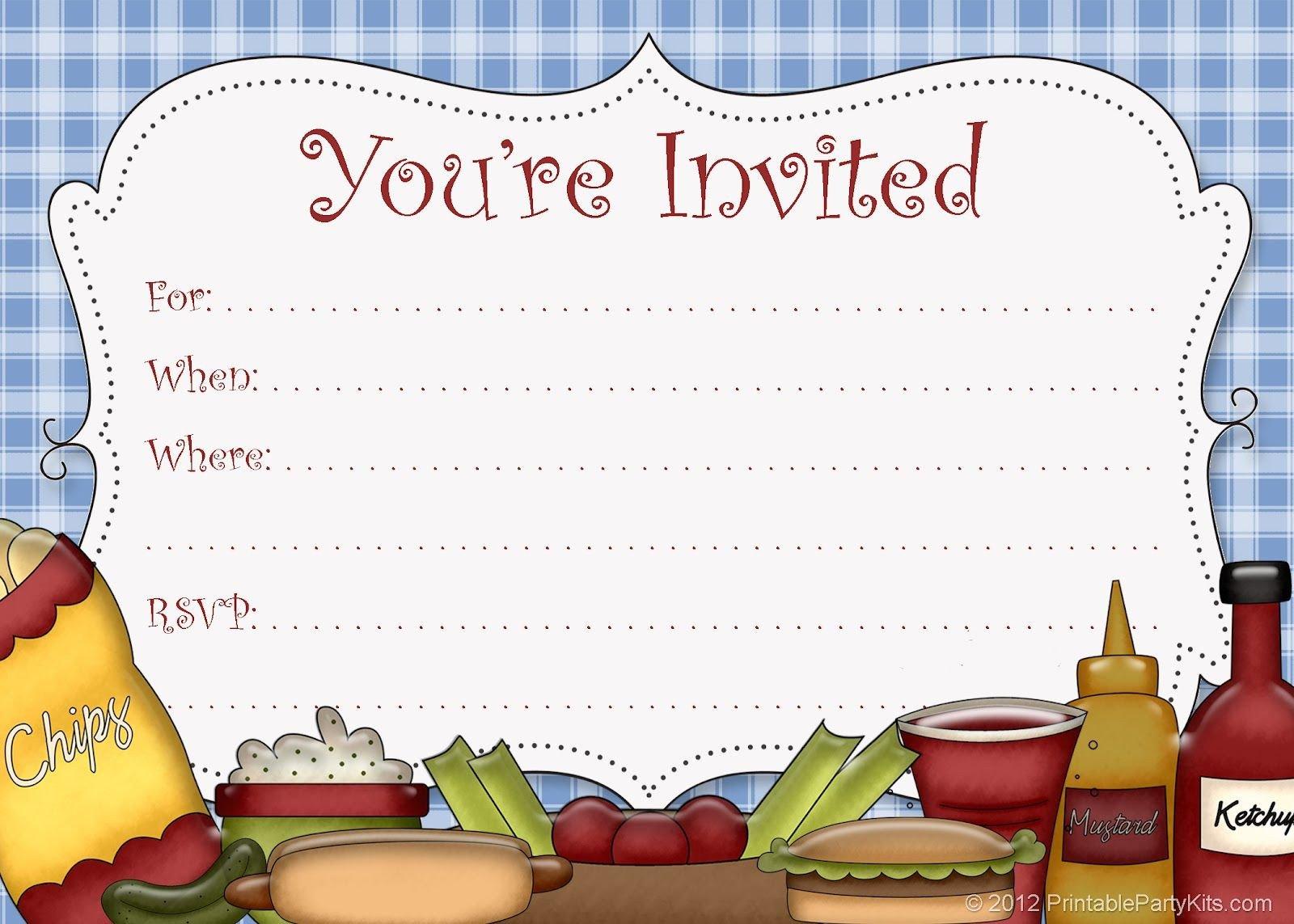 Free Downloadable Picnic Invitation Template Free Printable Party Invitations Free Printable Picnic