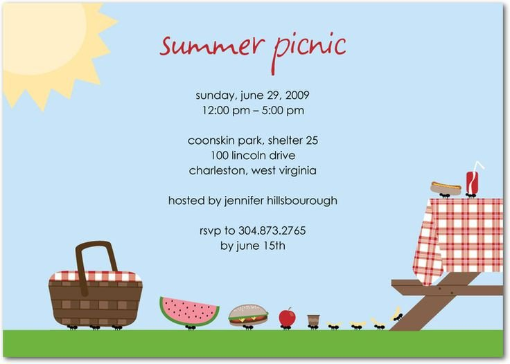 Free Downloadable Picnic Invitation Template Make Your Own Memory Games