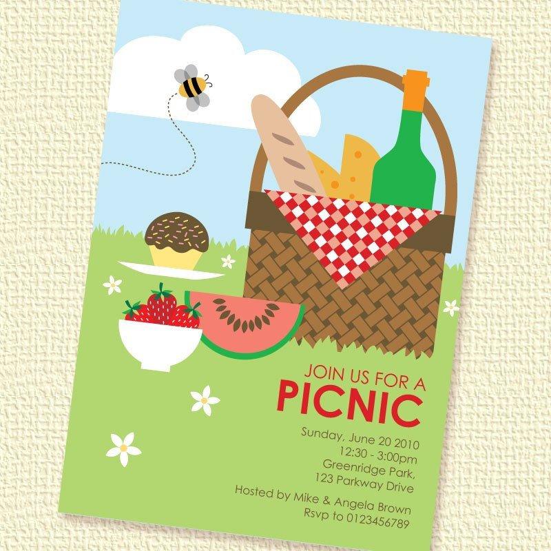 Free Downloadable Picnic Invitation Template Picnic Basket Printable Custom Personalized Invitation