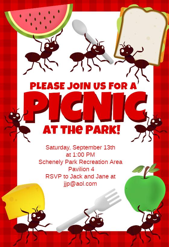Free Downloadable Picnic Invitation Template Picnic Party Dinner Party Invitation Template Free