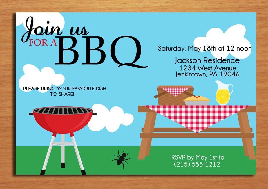 Free Downloadable Picnic Invitation Template Summer Picnic Customized Printable Bbq by