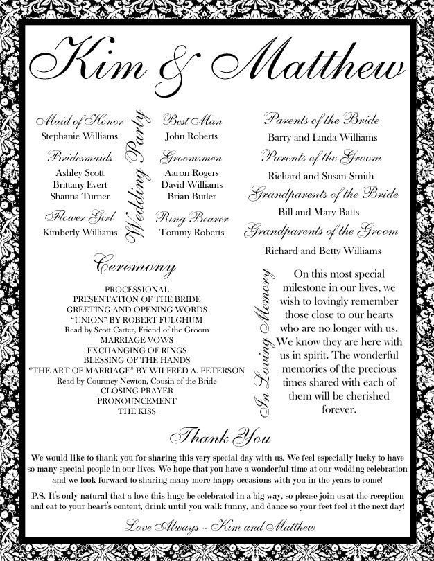 Free Downloadable Wedding Program Templates 71 Best Images About Sikh Wedding On Pinterest