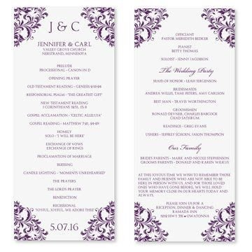 Free Downloadable Wedding Program Templates Free Wedding Program Templates Word