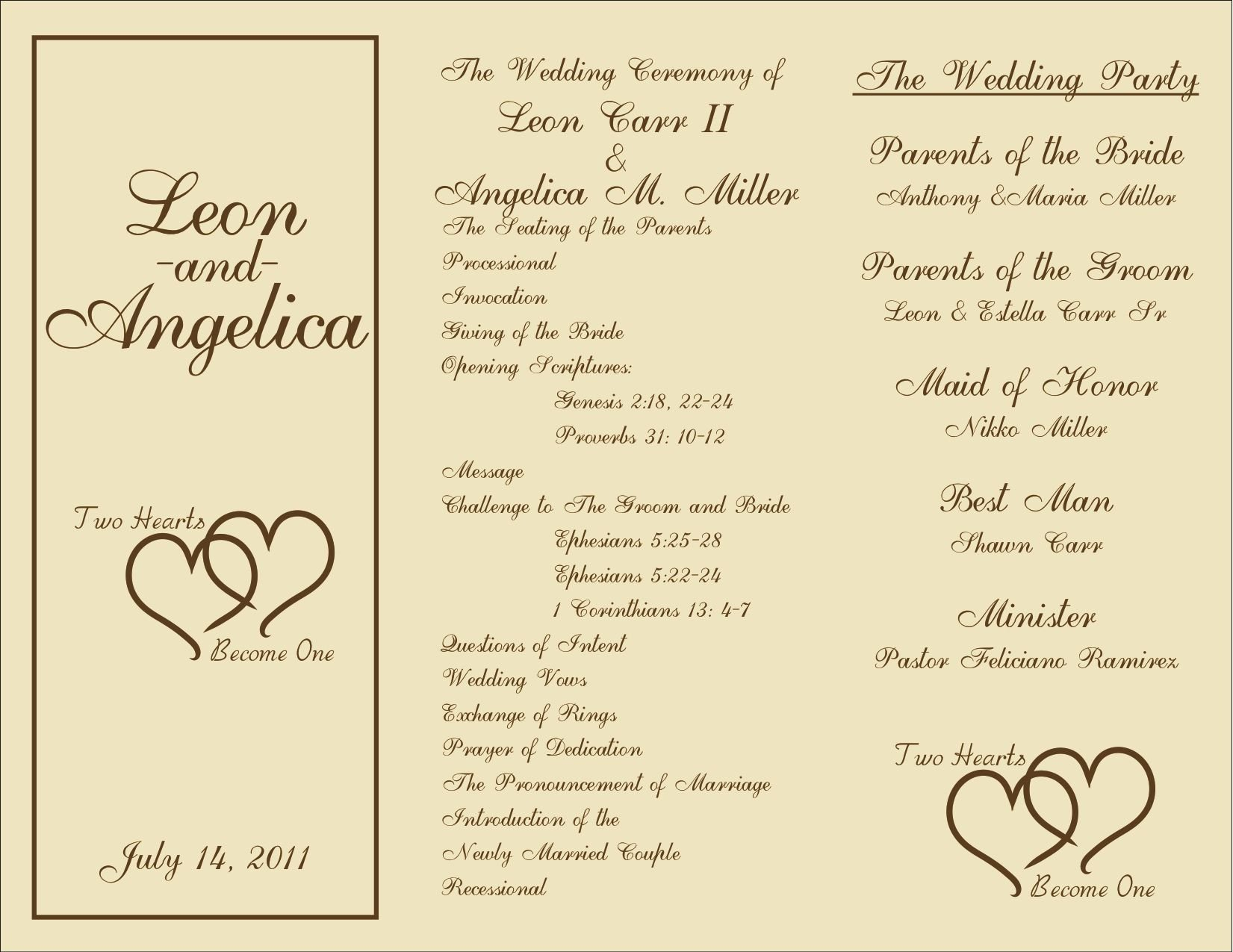 Free Downloadable Wedding Program Templates Printable Wedding Programs On Pinterest