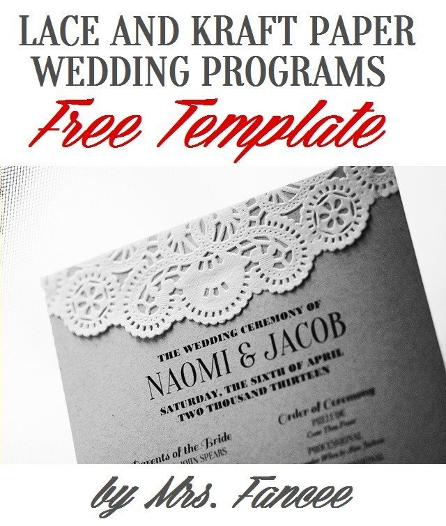 Free Downloadable Wedding Program Templates Wedding Program Template Mrs Fancee