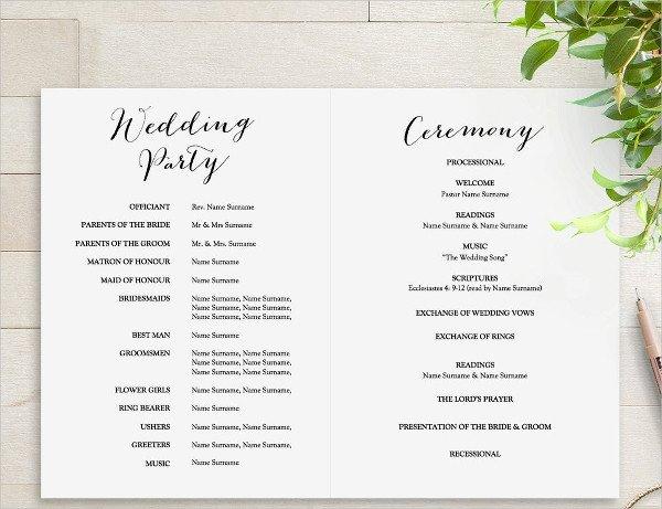 Free Downloadable Wedding Programs Templates 25 Wedding Program Templates Psd Ai Eps Publisher