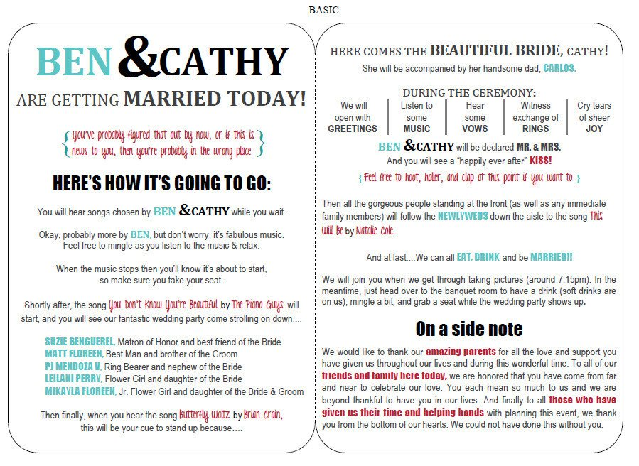 Free Downloadable Wedding Programs Templates Funny Wedding Programs On Pinterest