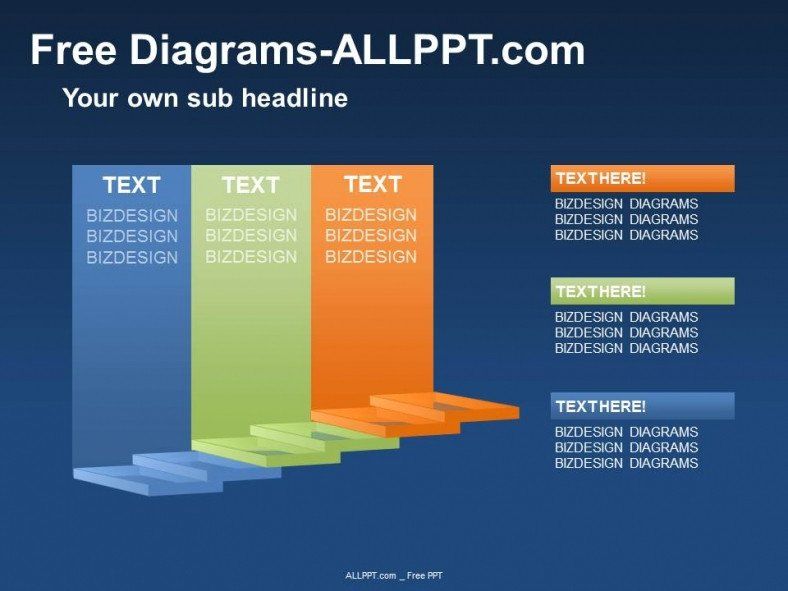 Free Downloads Powerpoint Templates 3d Stair Diagram Ppt Download Free