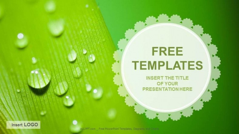 Free Downloads Powerpoint Templates Droplets Nature Ppt Templates Download Free