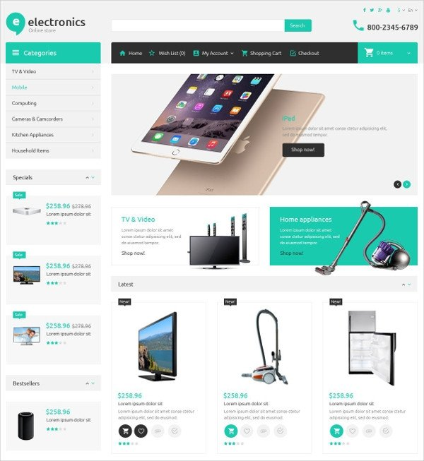 Free Ecommerce Websites Templates 19 E Merce Bootstrap themes & Templates