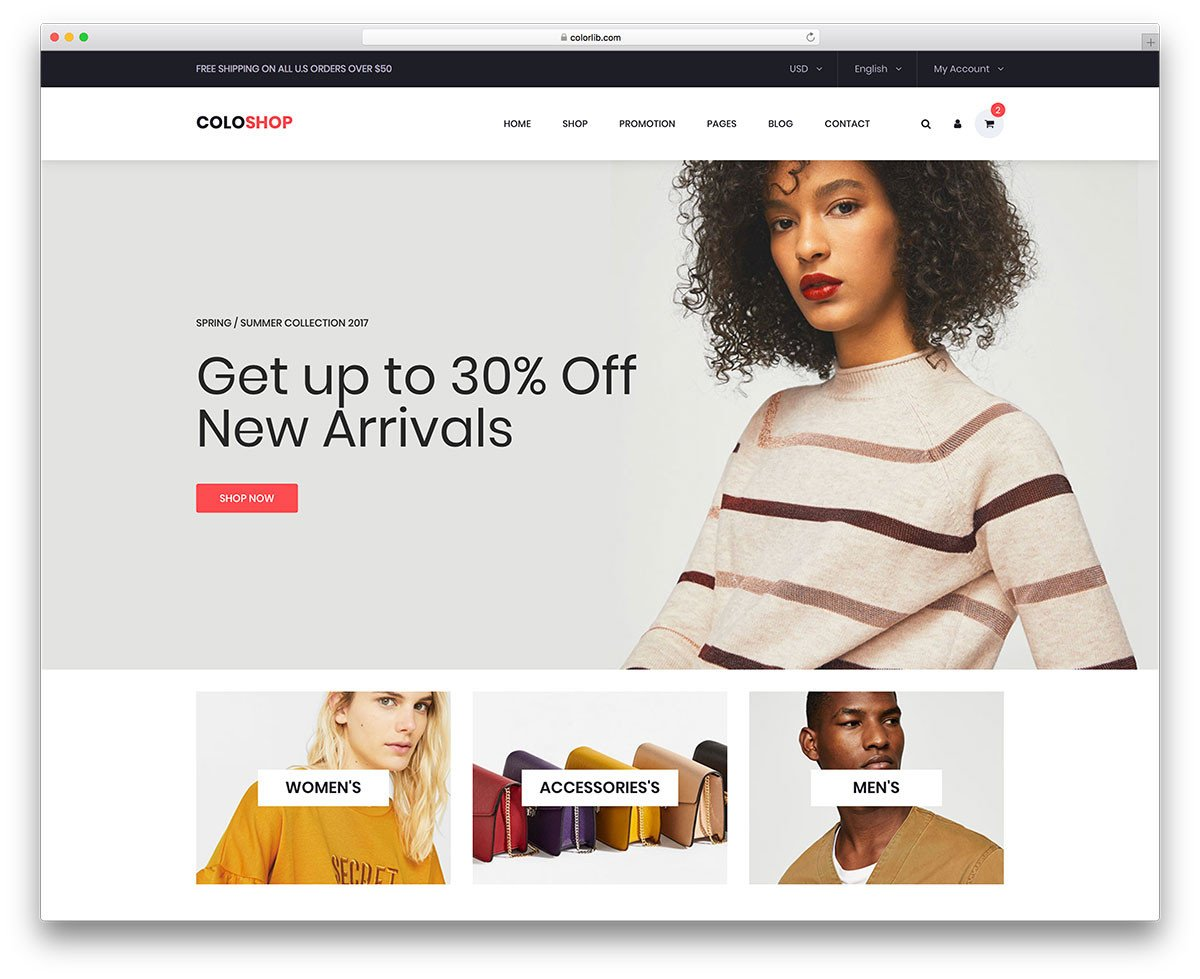 Free Ecommerce Websites Templates 24 Best Free E Merce Website Templates In 2019 Uicookies