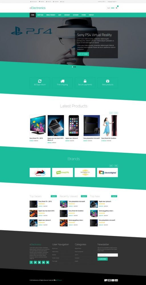 Free Ecommerce Websites Templates 25 Best HTML E Merce Website Templates Free Premium
