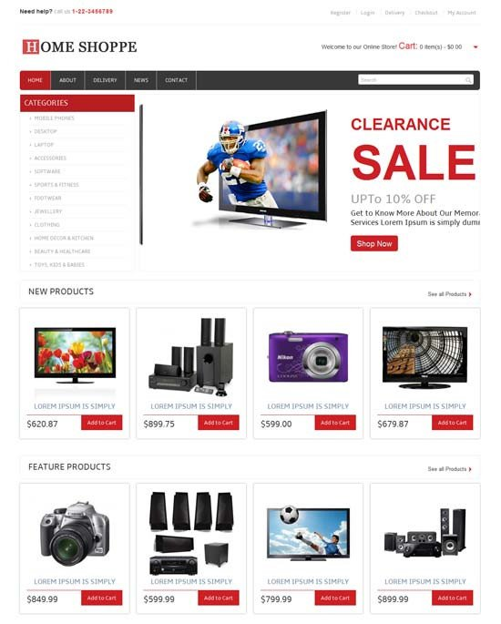 Free Ecommerce Websites Templates 46 Best E Merce Website Templates Free & Premium