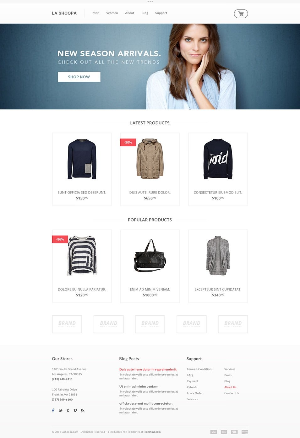 Free Ecommerce Websites Templates 60 Free Psd Website Templates