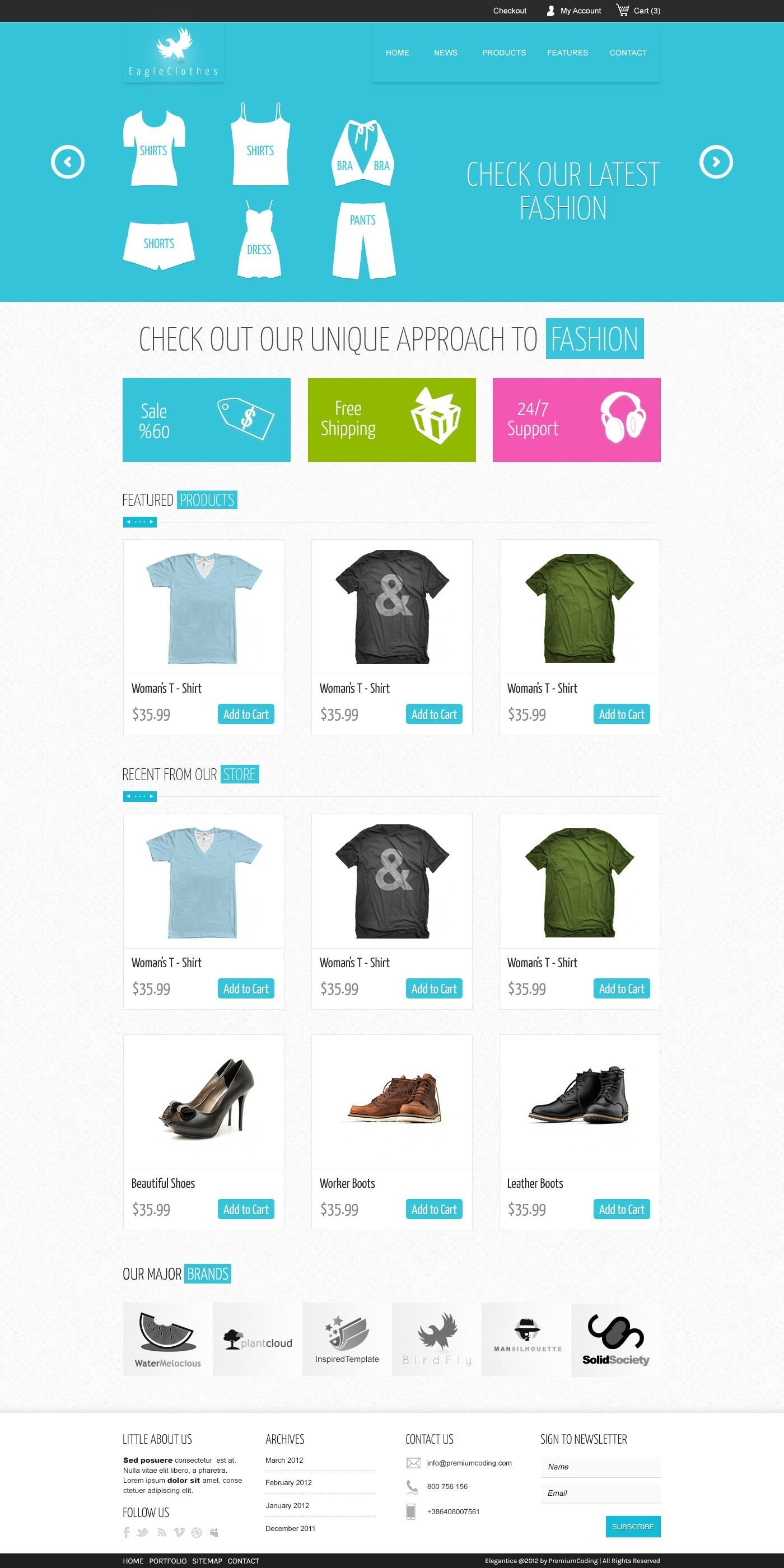 Free Ecommerce Websites Templates Download 15 Free Psd E Merce Website Designs