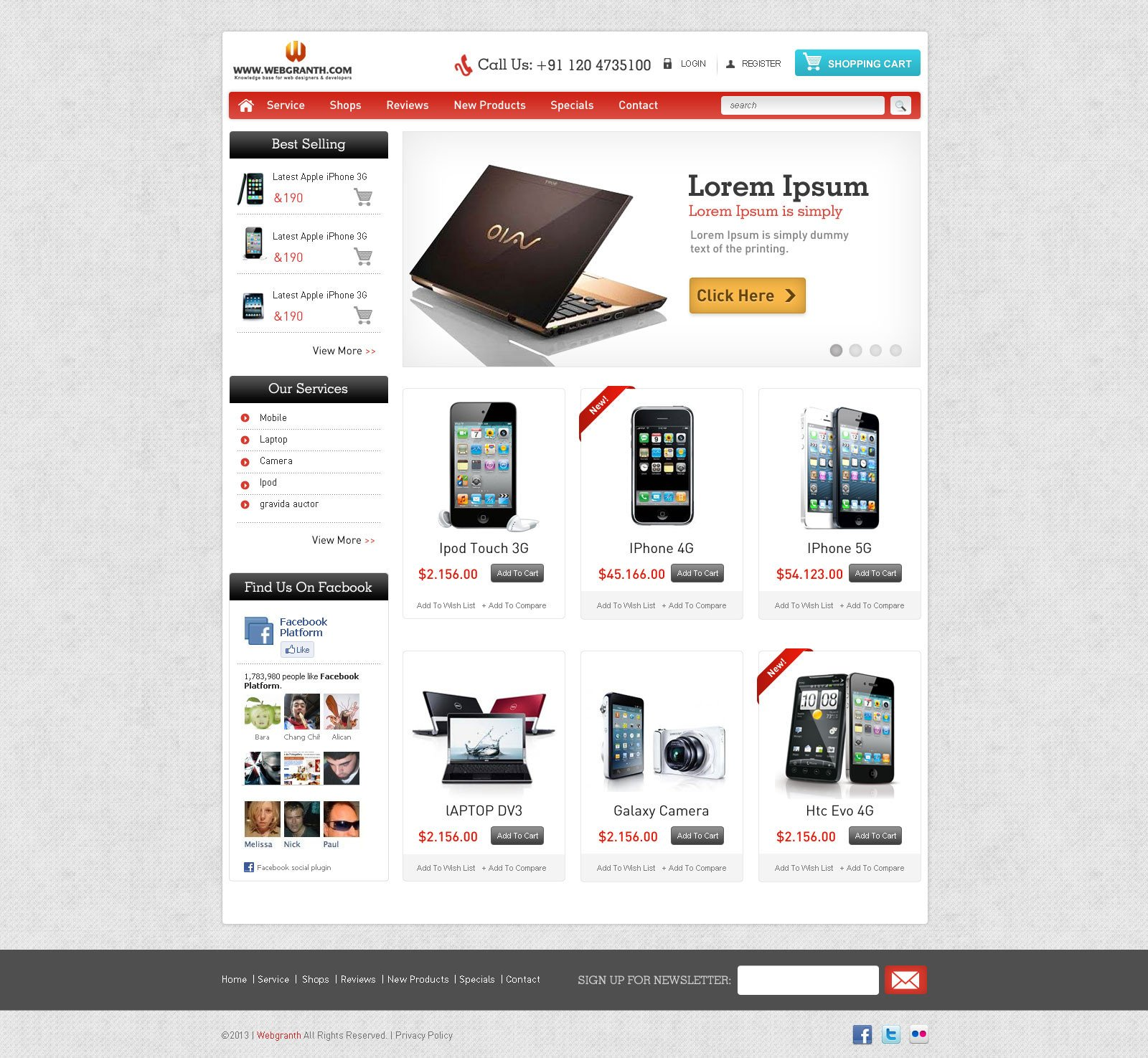 Free Ecommerce Websites Templates Free HTML Website Template
