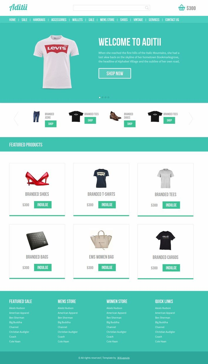 Free Ecommerce Websites Templates Free Template E Merce with Responsive Design