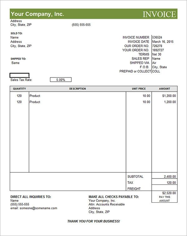 Free Editable Invoice Template 19 Mercial Invoice Templates Download Free Documents