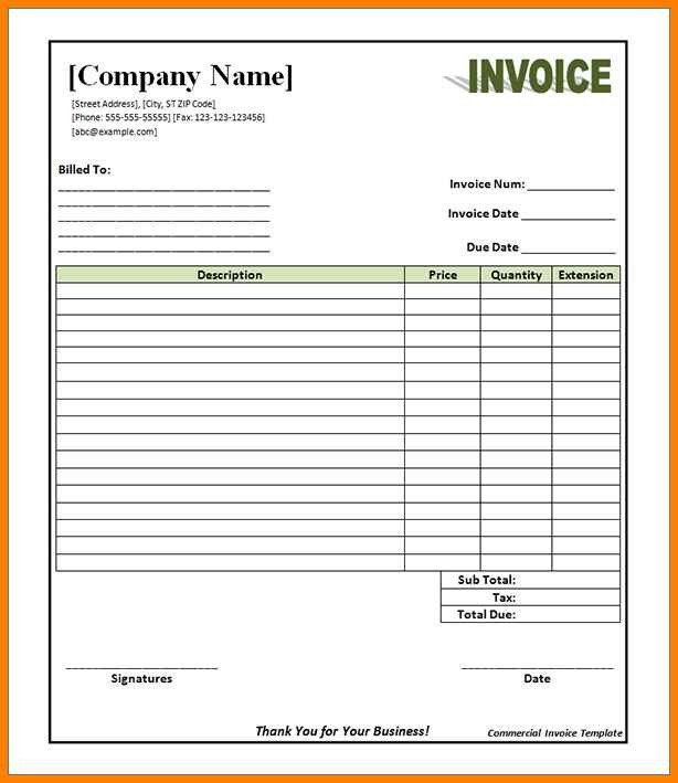 Free Editable Invoice Template 6 Editable Invoice Pdf