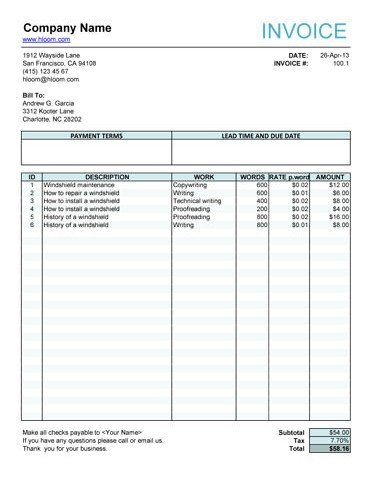Free Editable Invoice Template Editable Invoice Template