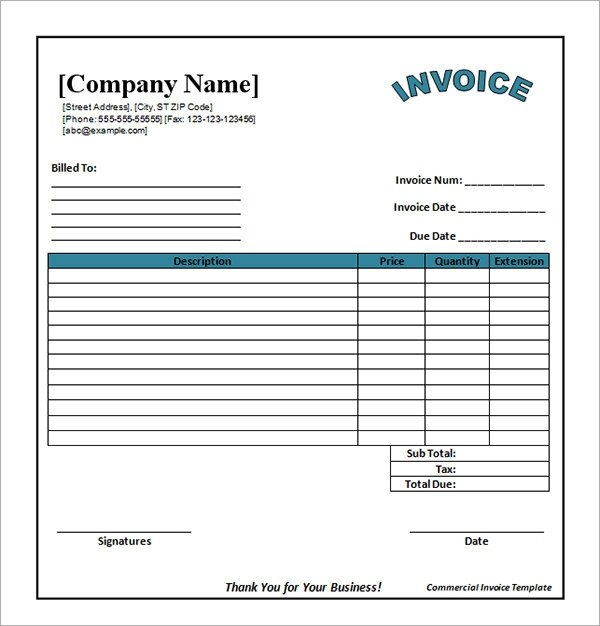 Free Editable Invoice Template Free Editable Invoice Template Download