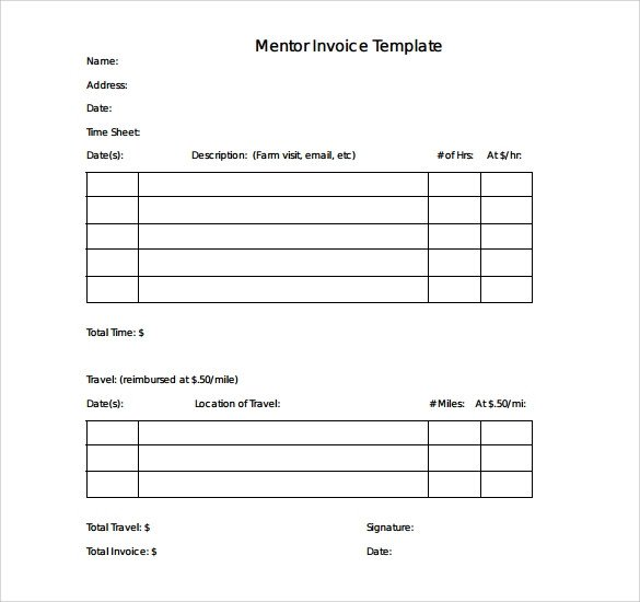 Free Editable Invoice Template Sample Simple Invoice Template 9 Download Free