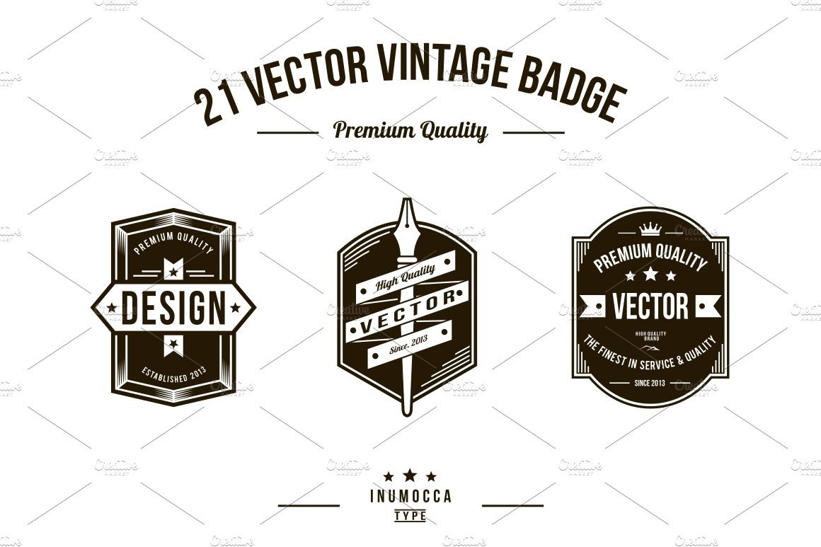 Free Editable Logo Templates 21 Vintage Badges Editable Text Logo Templates