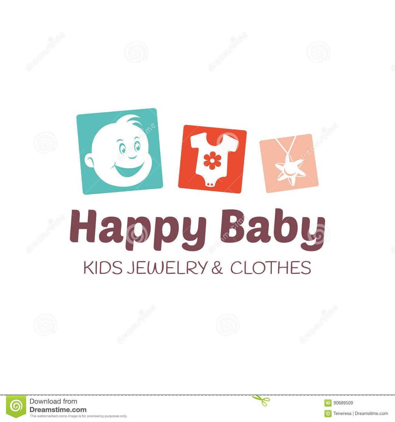 Free Editable Logo Templates Baby Shop Logo Vector Template Stock Vector Illustration