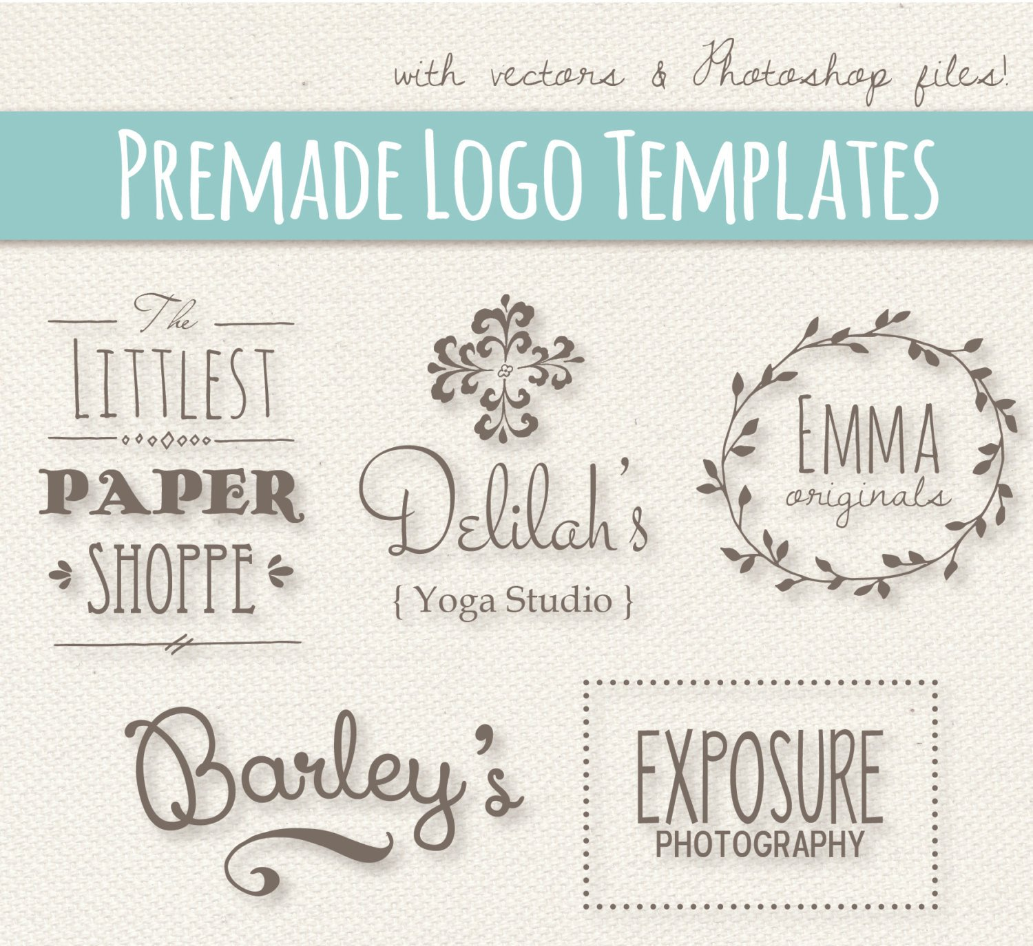 Free Editable Logo Templates Cute Logo Templates Set 1 Fully Layered Psd Editable
