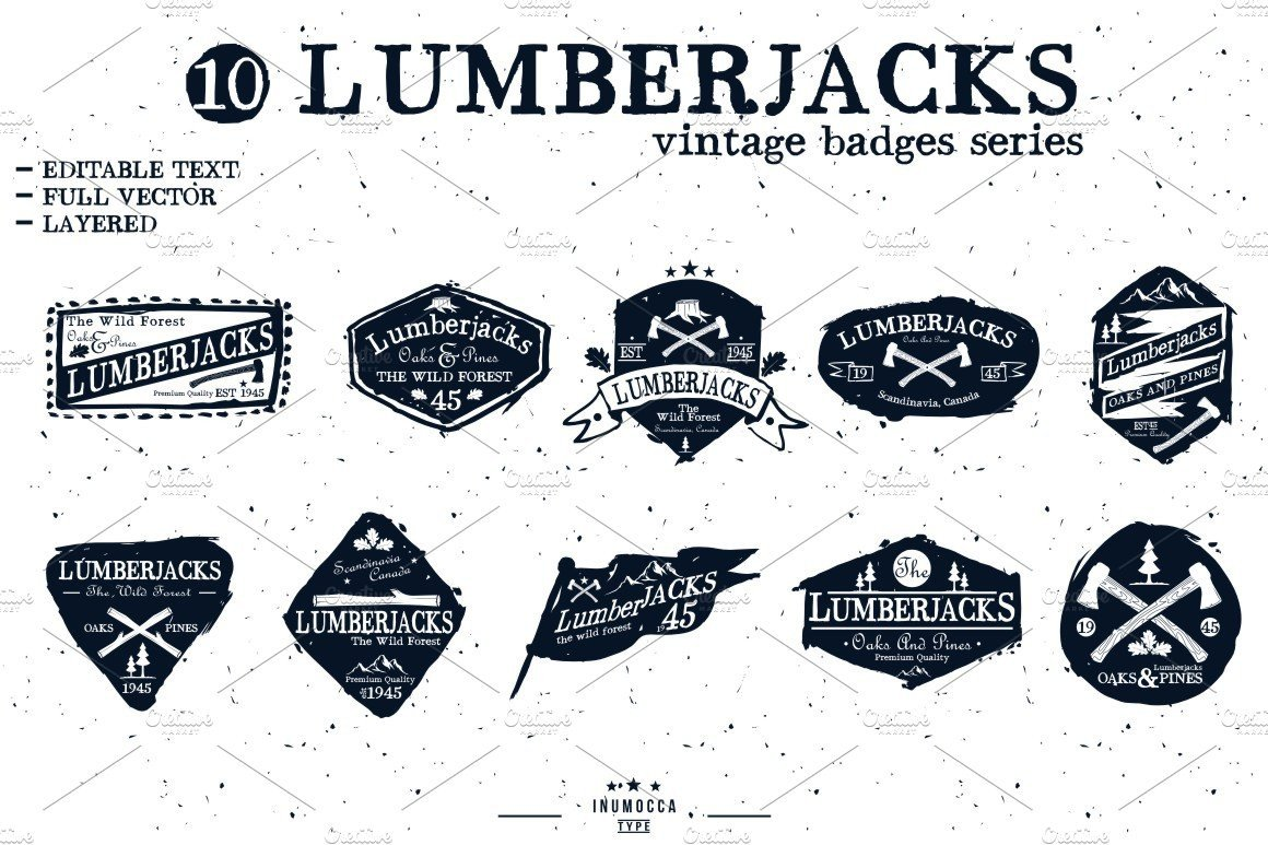 Free Editable Logo Templates Lumberjack Badge Editable Text Logo Templates