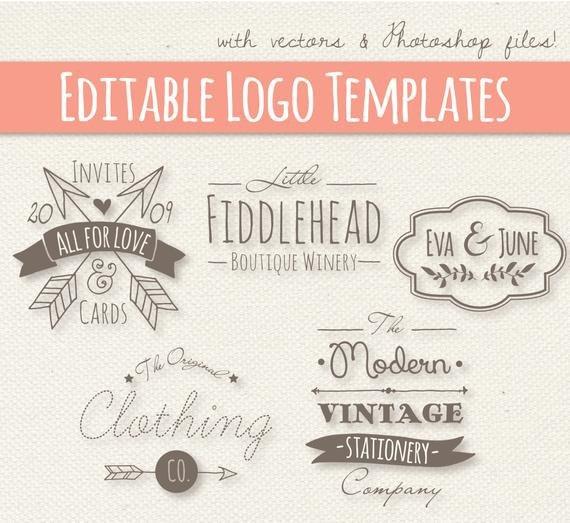 Free Editable Logo Templates Modern Vintage Style Logo Templates Set 4 Editable Logo