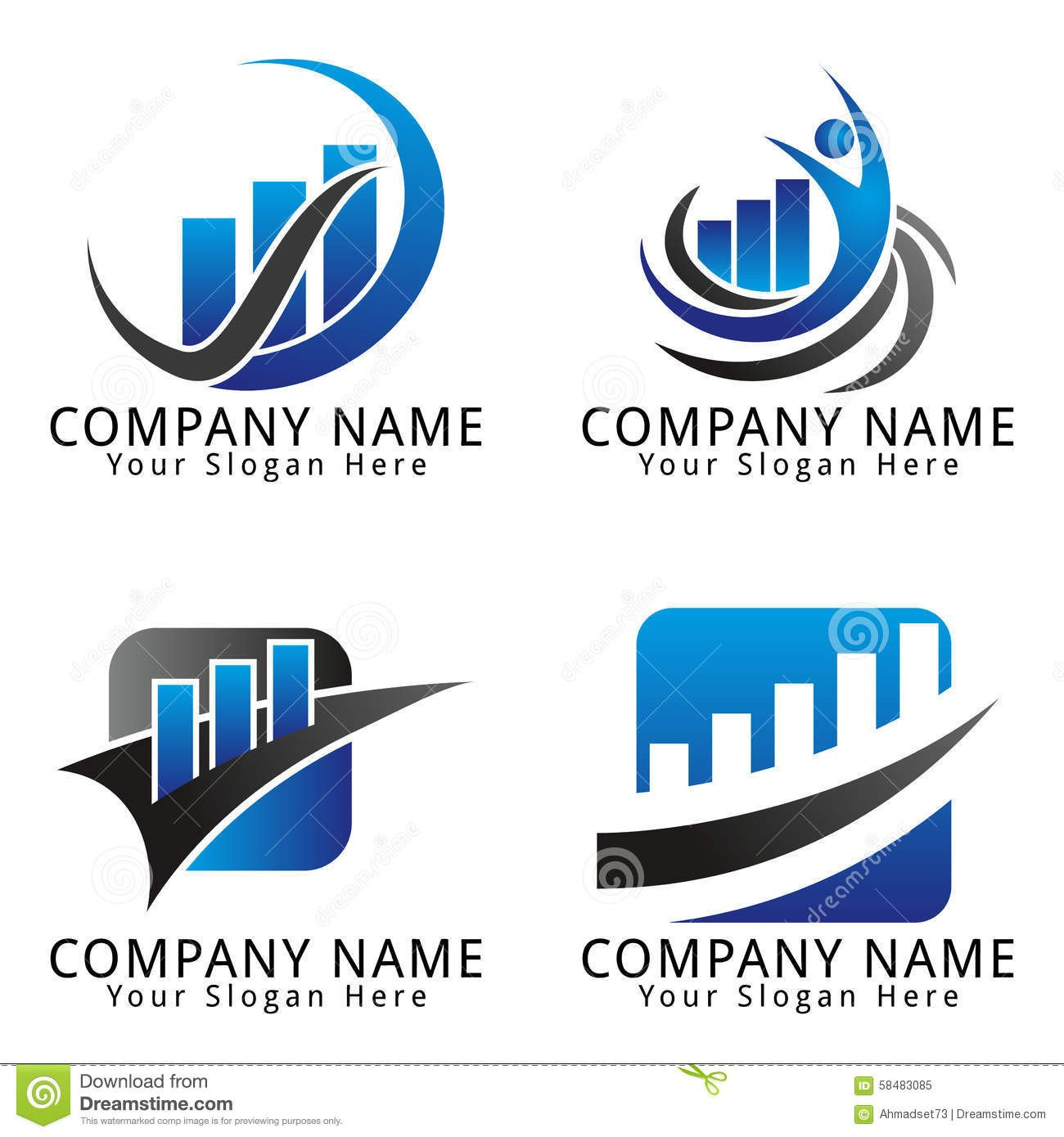 Free Editable Logo Templates Royalty Free Stock Finance and Marketing Concept