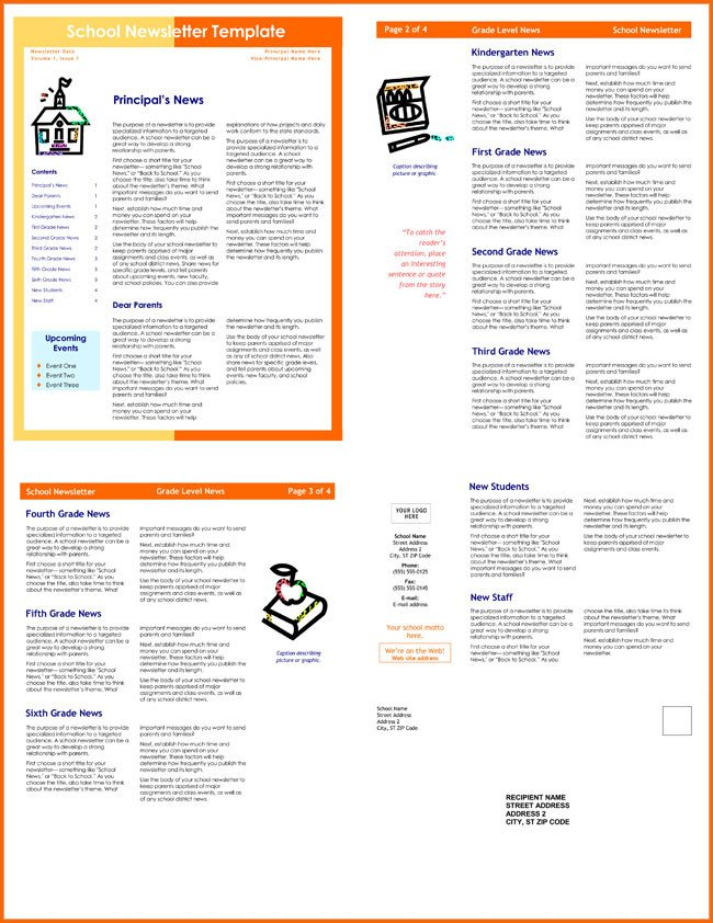 Free Editable Newsletter Templates 10 Classroom Newsletter Templates Free and Printable