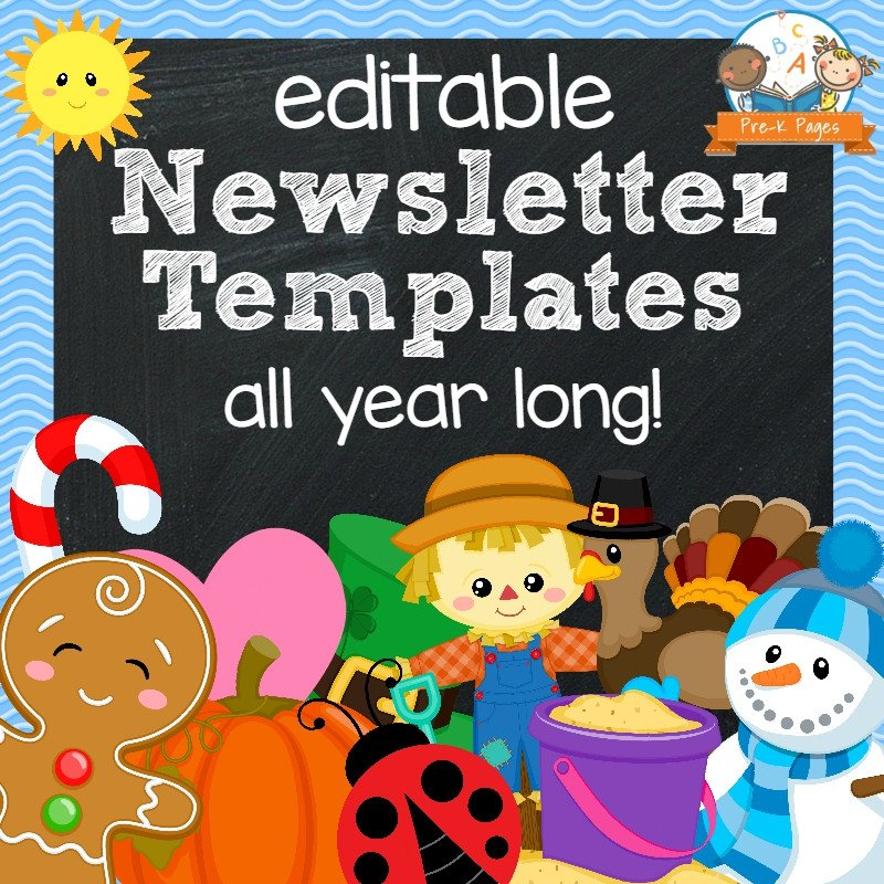 Free Editable Newsletter Templates Classroom Newsletters Pre K Pages