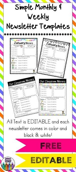 Free Editable Newsletter Templates Editable Class Newsletter Template