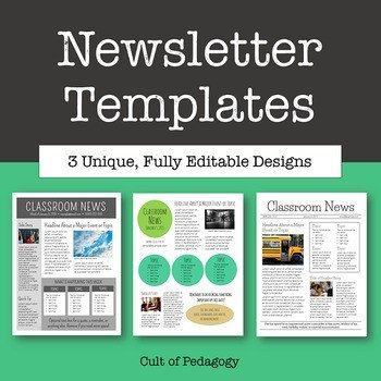 Free Editable Newsletter Templates Newsletter Templates Editable by Cult Of Pedagogy