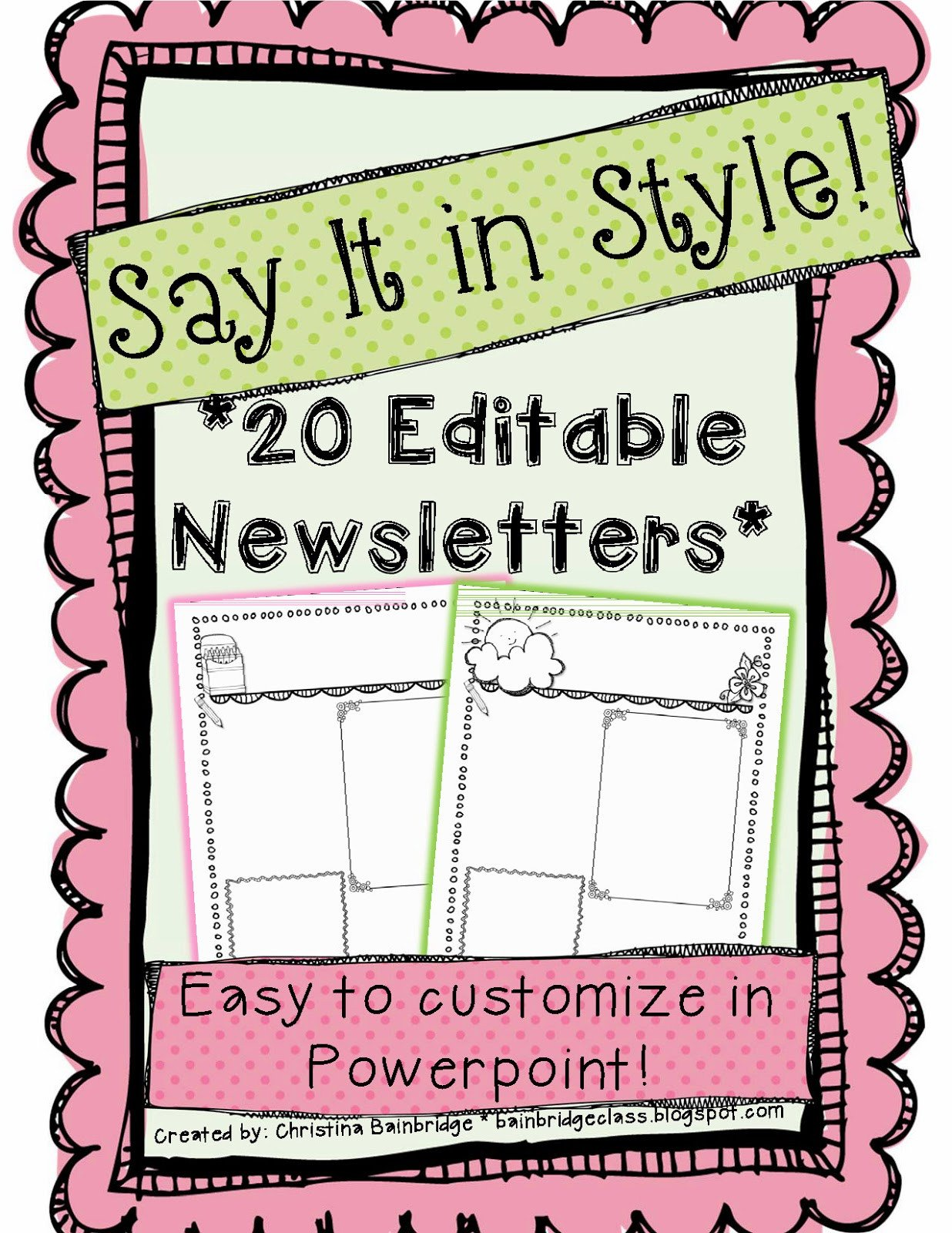 Free Editable Newsletter Templates Wel E to the Uni Corner why I Do What I Do Families