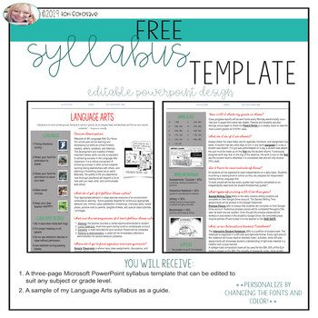 Free Editable Syllabus Template Editable Language Arts Syllabus