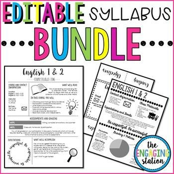 Free Editable Syllabus Template Editable Syllabus Bundle