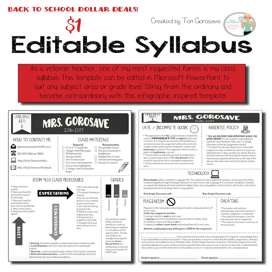 Free Editable Syllabus Template Editable Syllabus [infographic]