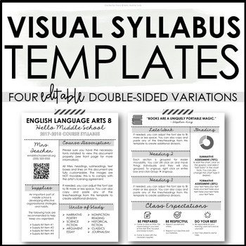 Free Editable Syllabus Template Editable Visual Syllabus Template for Back to School by