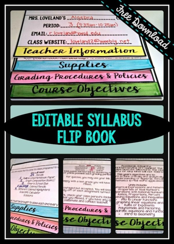 Free Editable Syllabus Template Free Editable Powerpoint for Creating A Flip Book Syllabus