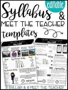 Free Editable Syllabus Template Syllabus Editable 8 Different Editable Syllabus