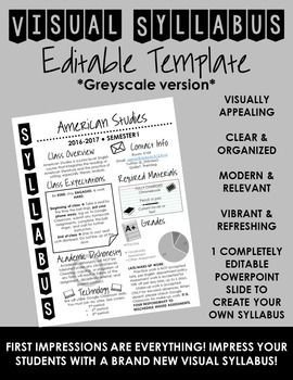 Free Editable Syllabus Template Visual Syllabus Editable Template Create Your Own