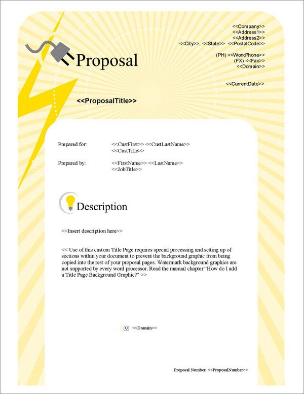 Free Electrical Bid Proposal Template Proposal Pack Electrical 1 software Templates Samples
