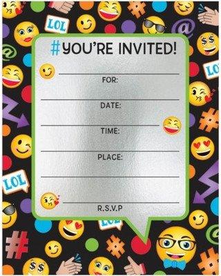 Free Emoji Invitation Template Amazing Deal On Emoji Foil Birthday Party Invitations 8