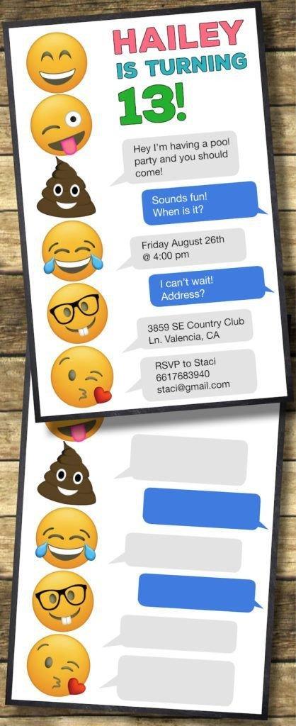 Free Emoji Invitation Template Emoji Birthday Invitations Free Printable Template