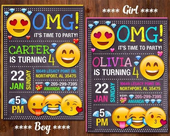 Free Emoji Invitation Template Emoji Invitation Emoji Birthday Invitation Emoji Party Girl