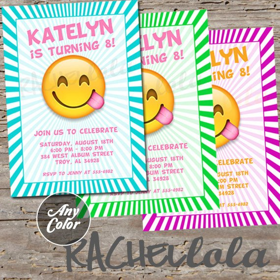 Free Emoji Invitation Template Emoji Invitation Printable Digital Print